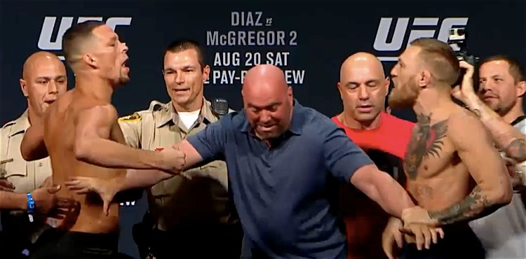 Dana holds Nate and Conor back at weigh-in