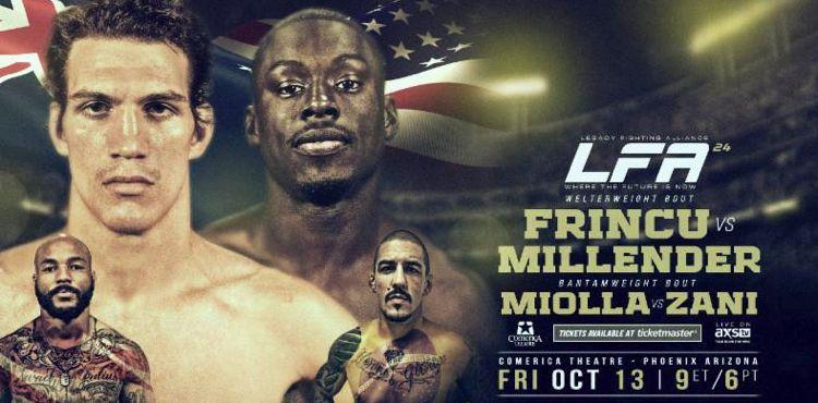 LFA 24 Frincu vs Millender Fight Poster