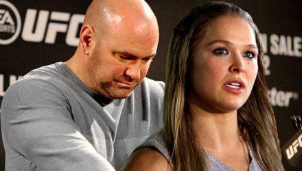 Dana White and Ronda Rousey