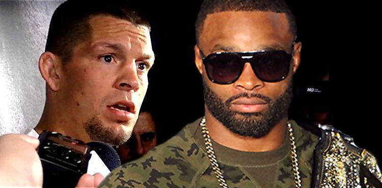 Nate Diaz and Tyron Woodley